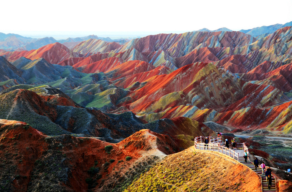 1. Zhangye Danxia landform in Gansu, China