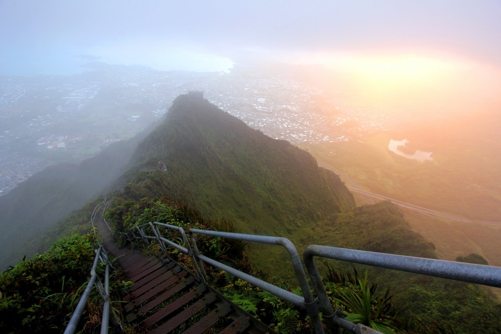 Haiku Stairs of Oahu in Hawaii, United States