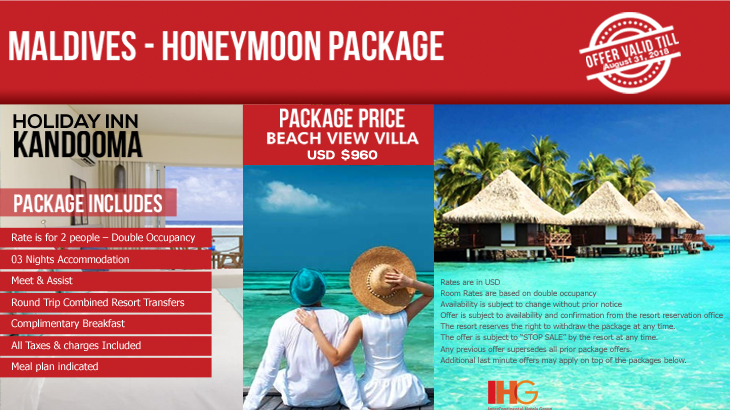 Maldives Honeymoon Package Travel Mate
