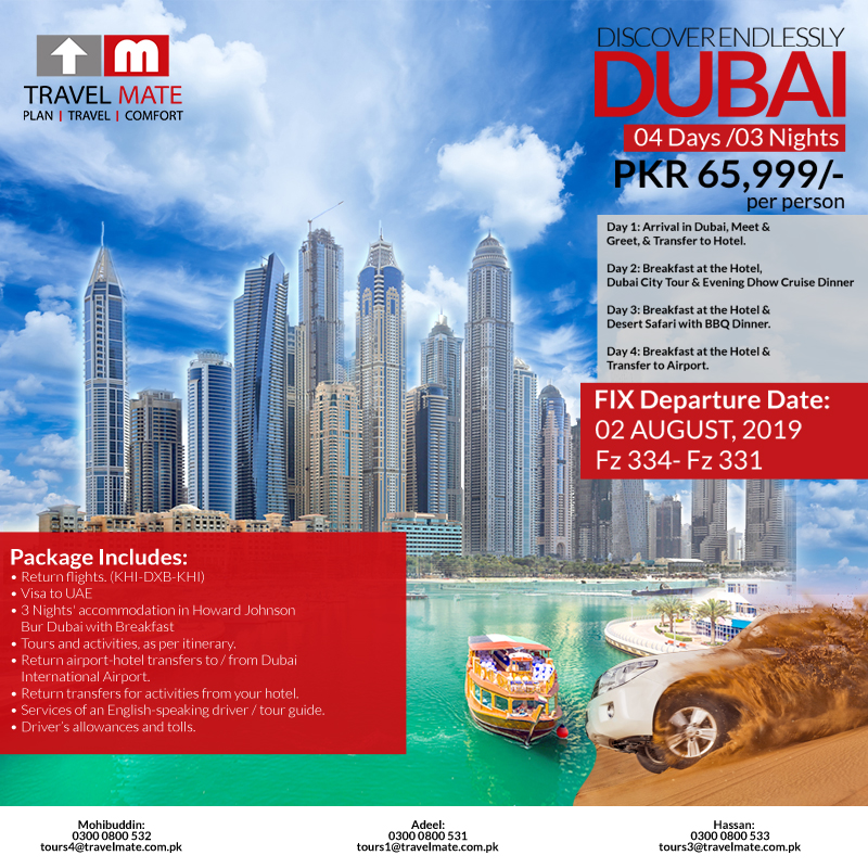 Travel & Tour Packages from Pakistan